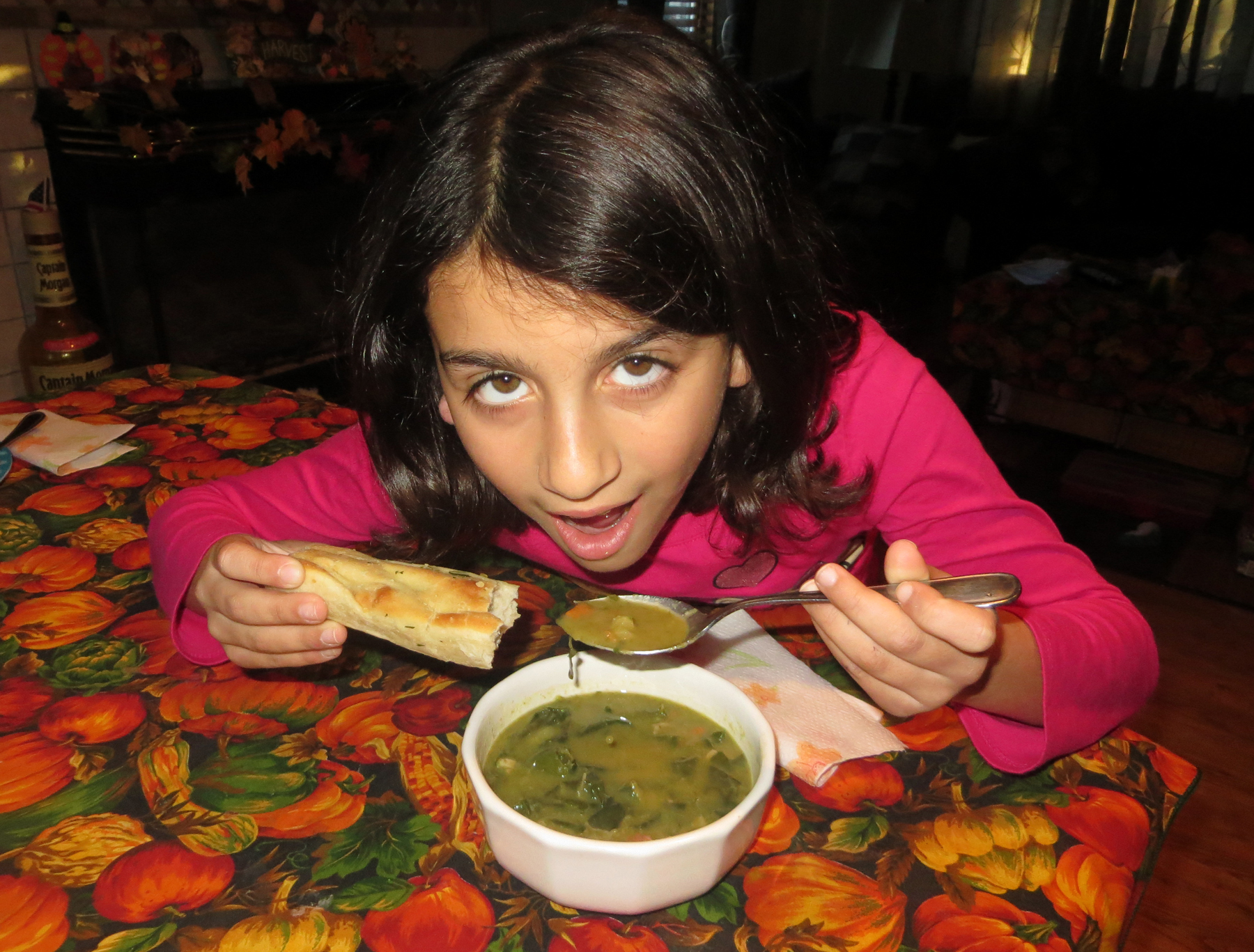 Julianna gave the thumbs-up on the soup!
