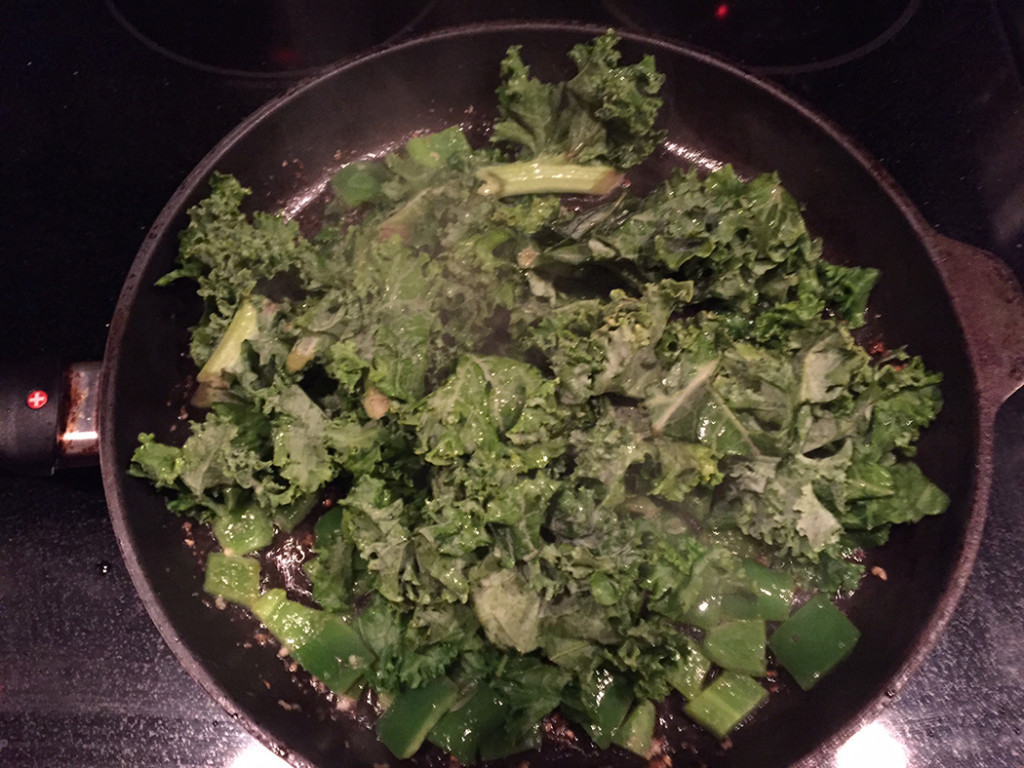 Step 2. Add the kale.